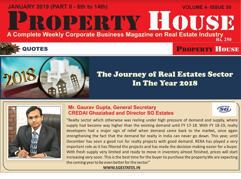 January 2019<br/> The Journey of real estates sector in the year 2018